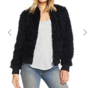 Chaser Faux Fur Bomber Jacket Size M New with Tags